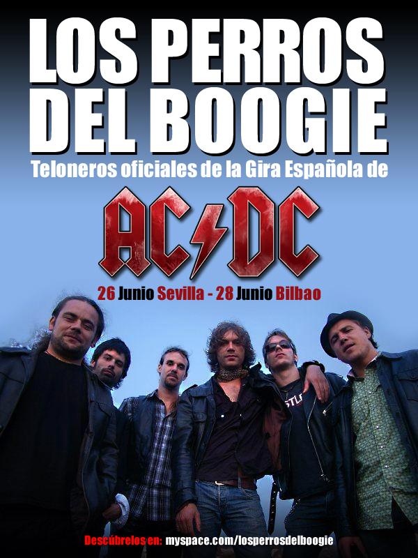 CARTEL AC/DC con LO PERROS DEL BOOGIE